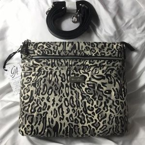 GRACE ADELE KINLEY Ocelot animal print crossbody
